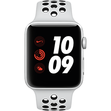 Apple Watch Series 3 Nike+ Aluminium-Silber-42 mm, Armband-Nike Sport-Platinum/Schwarz, GPS und Cellular Katalog