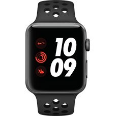 Apple Watch Series 3 Nike+ Aluminium-Space Grau-42 mm, Armband-Nike Sport-Anthrazit/Schwarz, GPS und Cellular Katalog