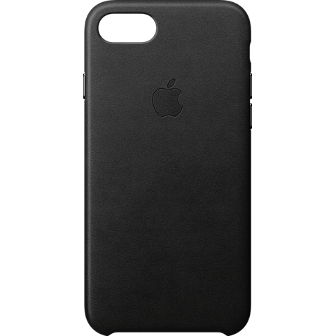 Apple Leder Case iPhone 8 Schwarz 99927265 vorne