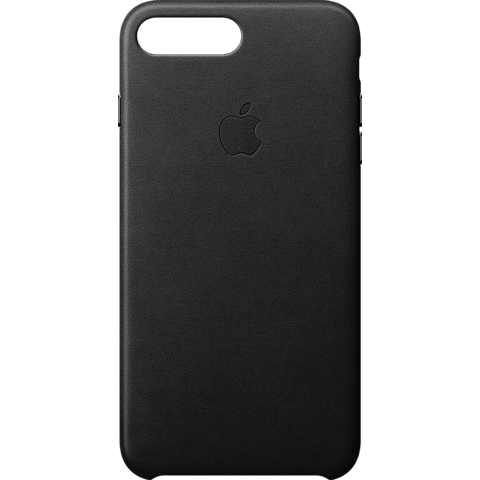 Apple iPhone 8 Plus Leder Case - Schwarz 99927262 vorne