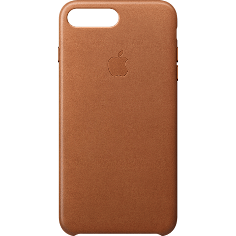 Apple iPhone 8 Plus Leder Case - Sattelbraun 99927264 vorne