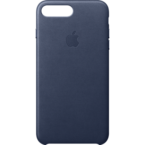 Apple iPhone 8 Plus Leder Case - Mitternachtsblau 99927266 vorne