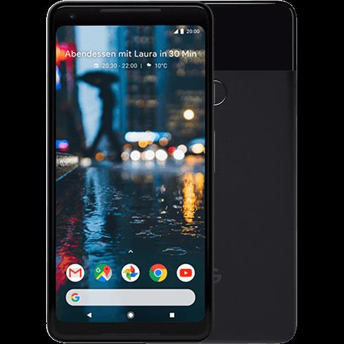 Google Pixel 2 XL Schwarz Vorne und Hinten