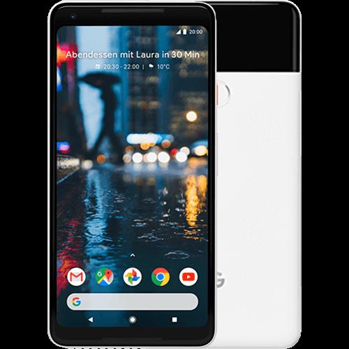 Google Pixel 2 XL Schwarzweiß Vorne und Hinten