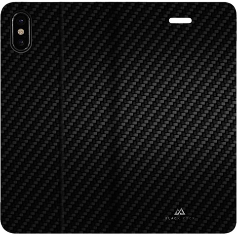 BlackRock Booklet Flex Carbon iPhone X - Schwarz 99927099 hinten