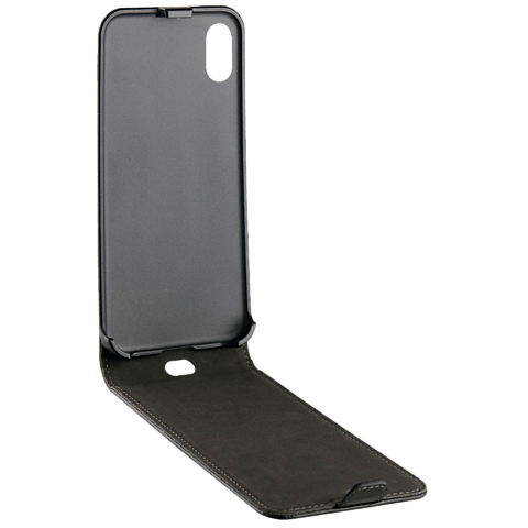 xqisit Flipcover Selection Schwarz Apple iPhone X 99927074 seitlich
