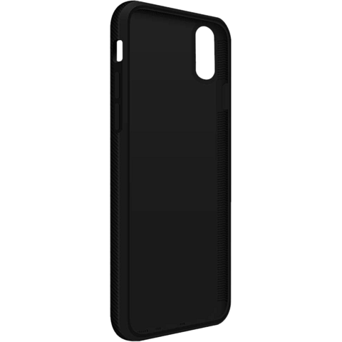 BlackRock Cover Material Real Carbon Schwarz Apple iPhone X 99927097 seitlich