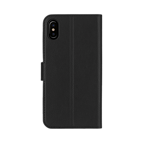 xqisit Slim Wallet Selection Schwarz Apple iPhone X 99927073 hinten