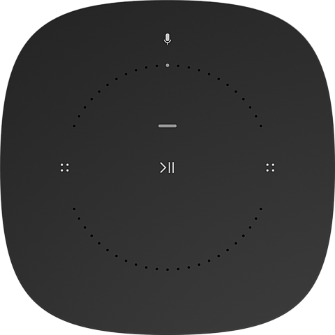 Sonos One Smart Speaker Schwarz 99927370 hinten