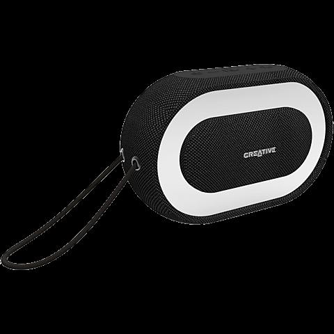 creative HALO Bluetooth Lautsprecher - Schwarz 99927367 seitlich