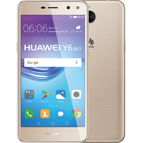 HUAWEI Y6 2017 DualSIM Gold vorne und hinten