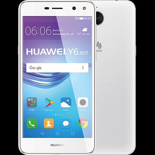 HUAWEI Y6 2017 DualSIM Weiß vorne und hinten