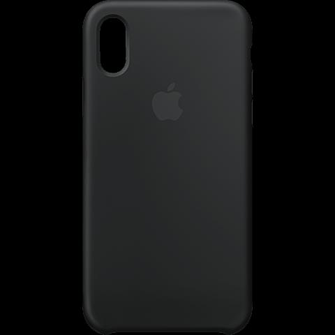 Apple Silikon Case Schwarz iPhone X 99927324 vorne