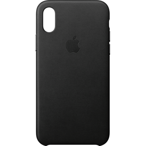 Apple Leder Case Schwarz iPhone X 99927361 vorne
