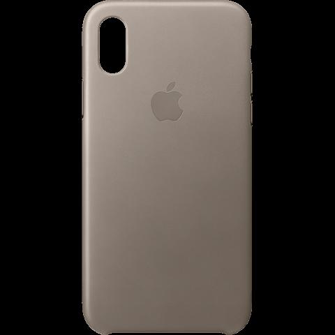 Apple Leder Case Taupe iPhone X 99927358 vorne