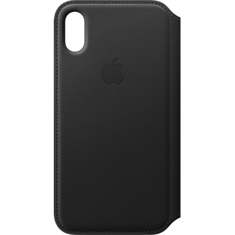Apple Leder Folio Case Schwarz iPhone X 99927320 hero