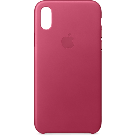 Apple Leder Case Fuchsienpink iPhone X 99927365 hero
