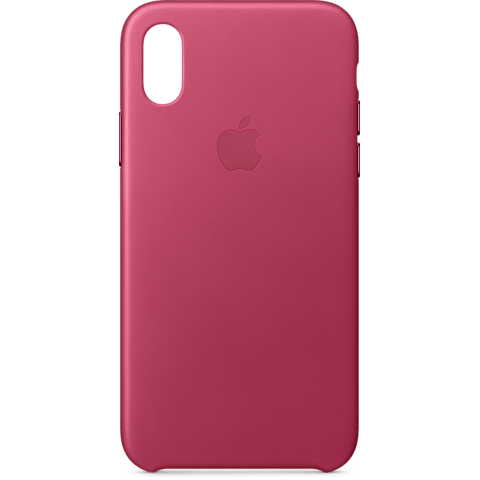Apple Leder Case Fuchsienpink iPhone X 99927365 hinten