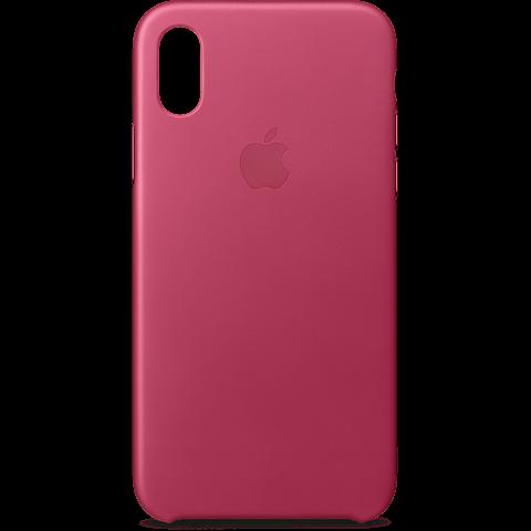 Apple Leder Case Fuchsienpink iPhone X 99927365 hinten