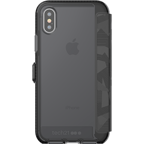 Tech21 EVO Wallet Huelle Black Apple iPhone X 99927063 hinten