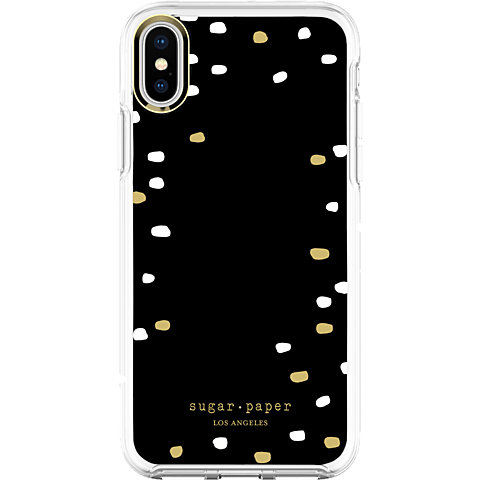 Sugar Paper Snap Case Party Dot Black White Apple iPhone X 99927126 hinten