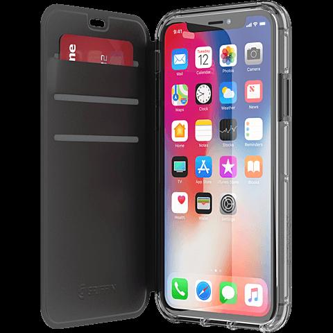 Griffin Survivor Folio Case Schwarz Apple iPhone X 99927101 seitlich