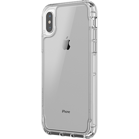 Griffin Survivor Clear Case Transparent Apple iPhone X 99927100 seitlich