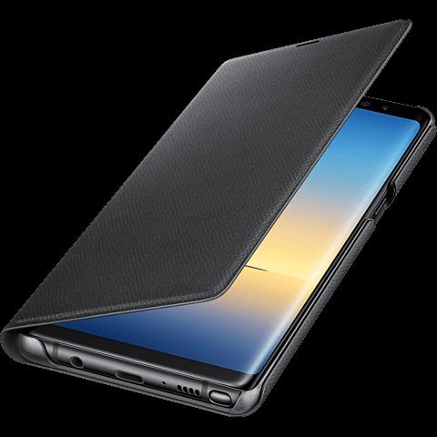 Samsung LED View Cover Schwarz Galaxy Note8 99927208 seitlich