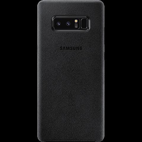 Samsung Alcantara Cover Schwarz Galaxy Note8 99927209 hinten