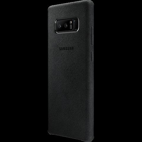 Samsung Alcantara Cover Schwarz Galaxy Note8 99927209 seitlich