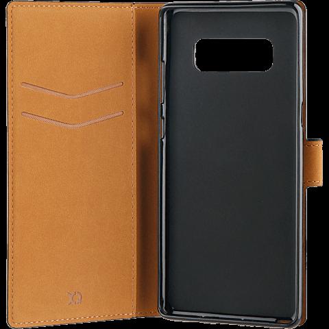 xqisit Slim Wallet Selection Schwarz Samsung Galaxy Note8 99927212 seitlich