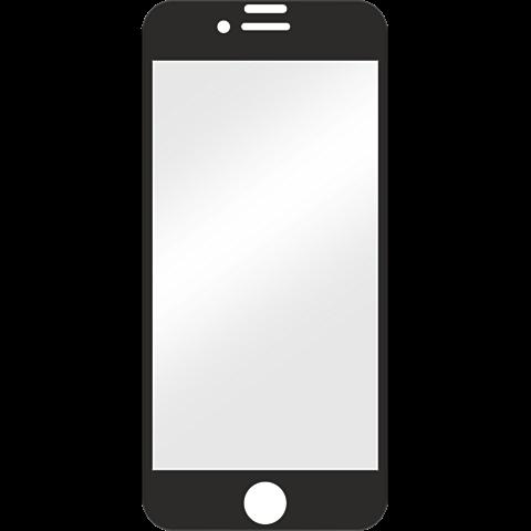 Displex Full Screen Glas Schwarz Apple iPhone 8 99927347 vorne