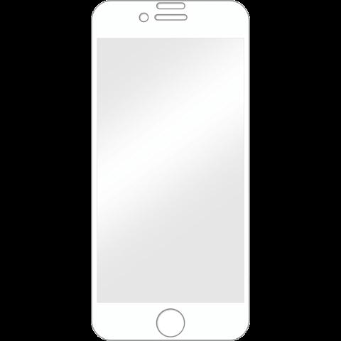 Displex Full Screen Glas Weiss Apple iPhone 8 99927348 vorne