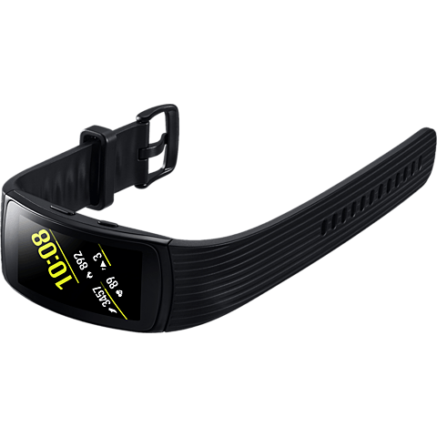 Samsung Gear Fit2 Pro Armbandgröße L Schwarz 99927396 seitlich