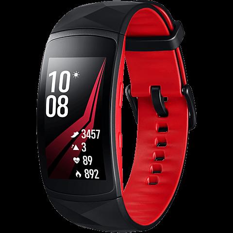 Samsung Gear Fit2 Pro Armbandgröße L Rot 99927400 vorne