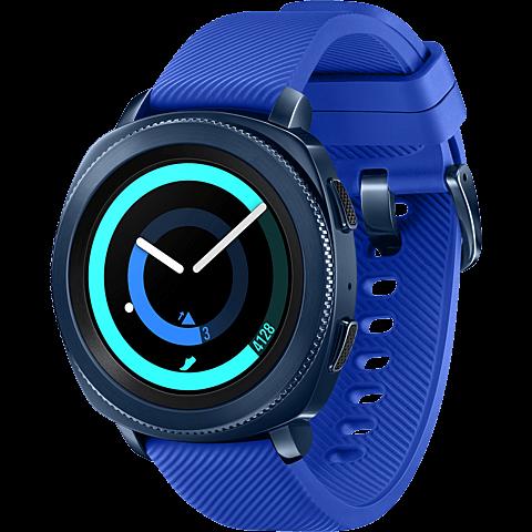 Samsung Gear Sport Smartwatch Blau 99927402 seitlich