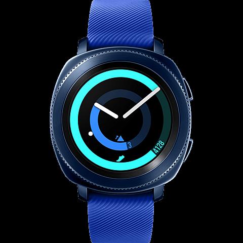 Samsung Gear Sport Smartwatch Blau 99927402 vorne