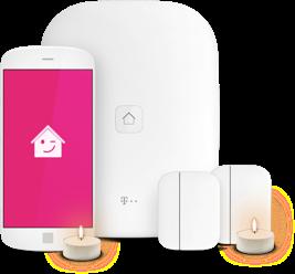 Smarthome-Geräte mit Teelicht