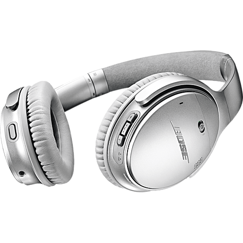 BOSE QuietComfort 35 II Wireless Kopfhörer - Silber 99927495 seitlich