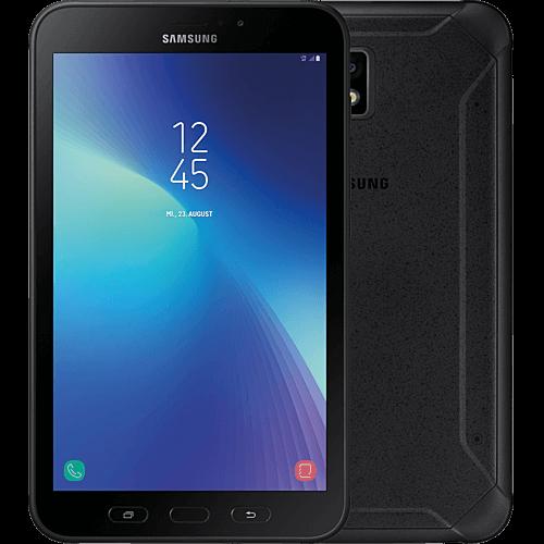 Samsung Galaxy Tab Active2 schwarz vorne und hinten