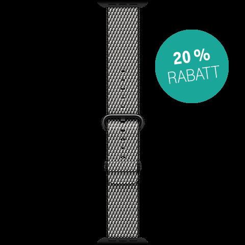 Apple Watch 38 mm Band Nylon Schwarz 99927307 vorne