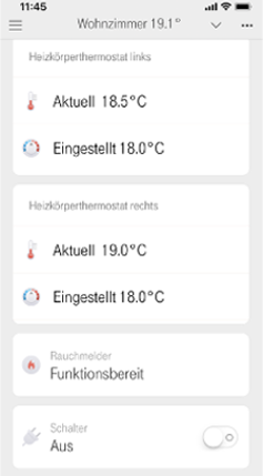 Anzeige der Temperatur