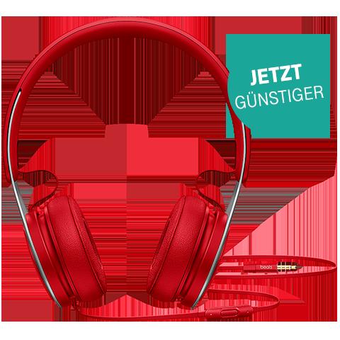 Beats EP On-Ear Kopfhörer Rot 99925716 vorne - Aktion