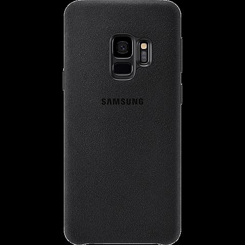 Samsung Alcantara Cover Schwarz Galaxy S9 99927674 hinten