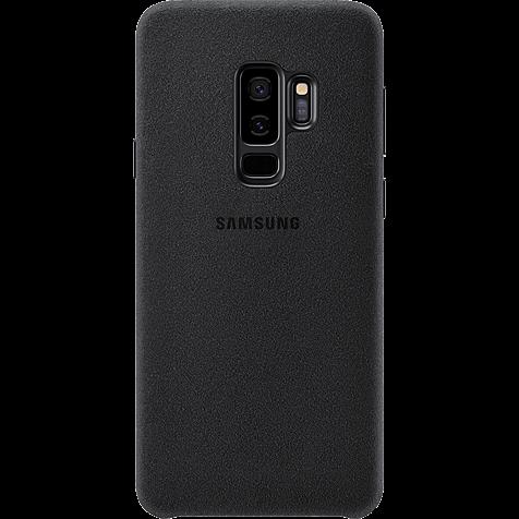Samsung Alcantara Cover Schwarz Galaxy S9 Plus 99927677 hero