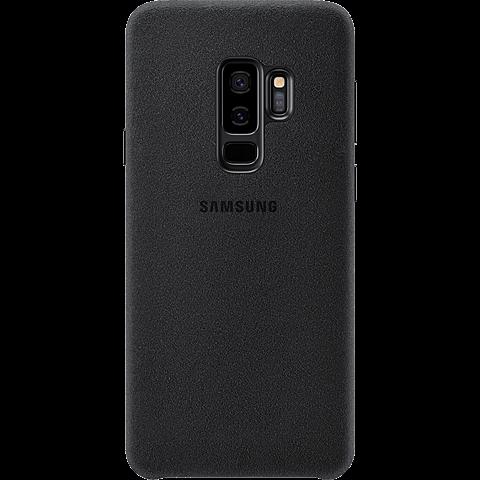 Samsung Alcantara Cover Schwarz Galaxy S9 Plus 99927677 hinten