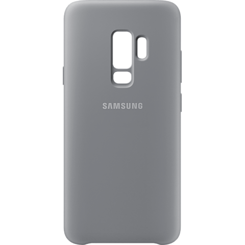 Samsung Silicone Cover Grau Galaxy S9 Plus 99927679 hinten