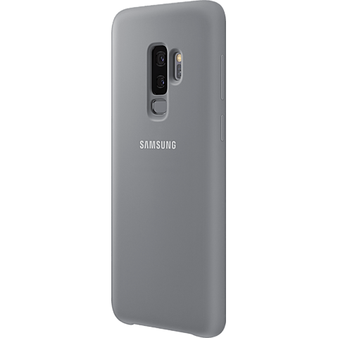 Samsung Silicone Cover Grau Galaxy S9 Plus 99927679 seitlich