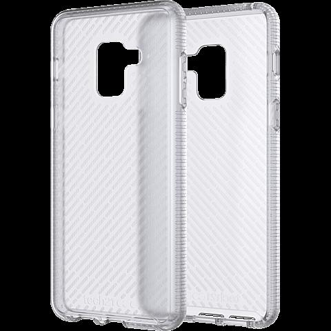 Tech21 EVO Shell Clear Samsung A8 Weiss 99927580 seitlich