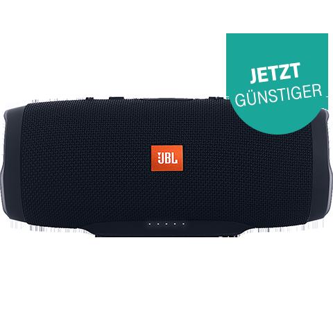JBL Charge 3 Bluetooth Lautsprecher Schwarz 99925491 vorne